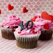 Royalty-Free Stock Photo: Image of cupcakes with heart shape and alphabets