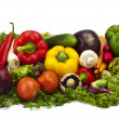 Line Up of Fresh Vegetables — Stock Photo