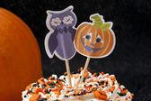 Decorative halloween cupcake — Stock Photo