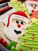 Christmas biscuit close up — Stock Photo