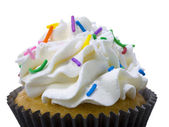 Close up image of cupcake with sprinkle — Stock Photo