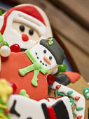 Colorful candies and christmas cookies — Stock Photo