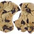 Two chocolate chips cookies - Stock Photo