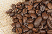 Roasted coffee seeds — Stock Photo