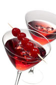 Two cherries cocktail drinks — Stock Photo