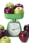 Weighing apples — Stock Photo