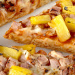 Macro image of hawaiian pizza — Stock Photo