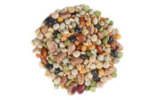 Assorted beans in circle shape — Stock Photo