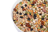 Assorted food beans on a bowl — Stock Photo