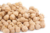 Chickpeas on a white background — Stock Photo