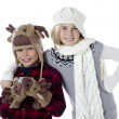 Boy and girl wearing winter clothing — Stock Photo #18738721