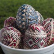 Stock Photo: Painted easter eggs in bowl