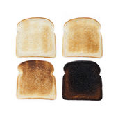Stages of toast — Stock Photo