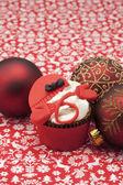 кекс и рождество безделушки — Стоковое фото