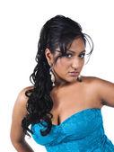 Indian female fashion model posing — Stock Photo