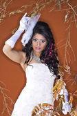 Donna in bianco — Foto Stock