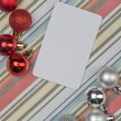 Royalty-Free Stock Photo: Red and silver christmas balls
