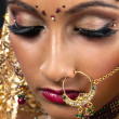 Close up of an indian bride — Stock fotografie