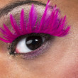 Close up shot of human eye with false eyelashes - Lizenzfreies Foto