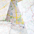 Stock Photo: Cropped image of a city map