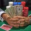 Gambler playing in the casino — Stock Photo
