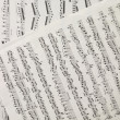 Stock Photo: music sheets
