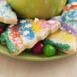 Christmas cookies with colorful candies — Stock Photo #18746357