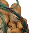 Bread basket closeup — Stock Photo