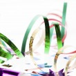 Close up shot of shiny colorful streamers — Stock Photo #18747935