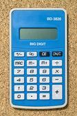 ブルー電卓 — ストック写真