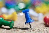 Colorful pushpins — Stock Photo