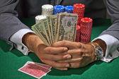 Gokker spelen in het casino — Stockfoto