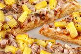Close up image of hawaiian pizza — Stock Photo