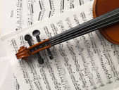 Violin and music sheets — Stock Photo