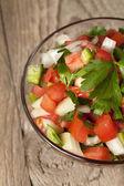 Bowl of fresh salsa — Stock Photo
