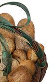 Bread basket closeup — Stock Photo