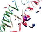 Close up shot of rolled up streamers — Stock Photo