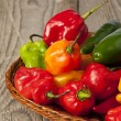 Colorful hot peppers — Stock Photo #18751551