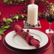 Christmas dinner table — Stock Photo #18753509