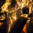 Burning bonfire — Stock Photo