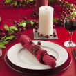 Christmas dinner table — Stock Photo #18759101