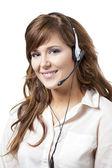 Support phone operator — Stock Photo