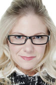 Caucasian woman with eyeglasses — Stock Photo