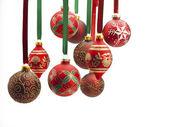 Close up of christmas baubles — Foto de Stock