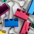 Stock Photo: Colorful paperclips