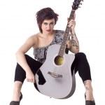 Acoustic girl — Stock Photo