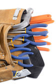 Close up shot of tool belt — Stock Photo