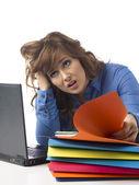 Un oficinista estresado — Foto de Stock