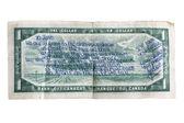 Messaggio scritto su un dollaro canadese — Foto Stock