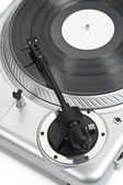 Turntable needle on white background — Stock Photo
